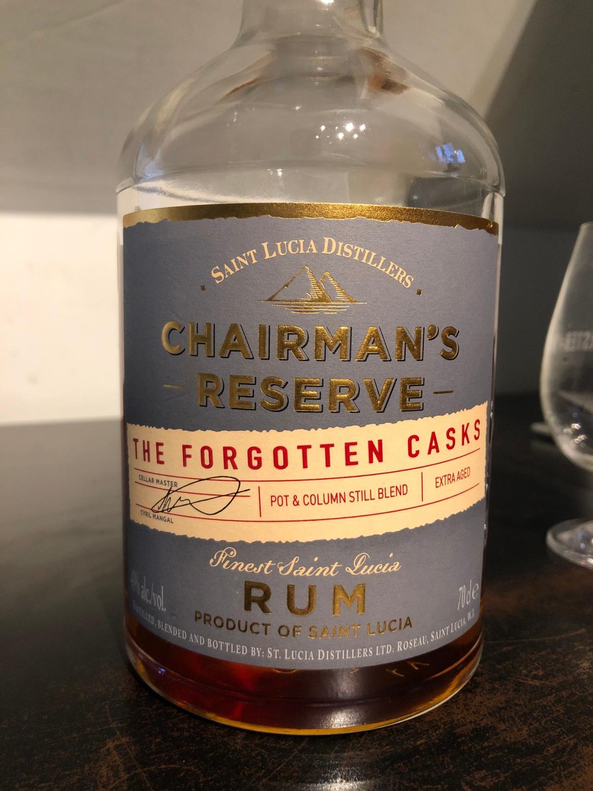 Saint Lucia Distillers: Chairman's Reserve ForgottenCask